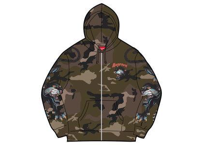 Supreme Panther Zip Up Hooded Sweatshirt Camo (SS21)の写真