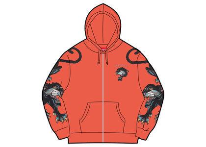 Supreme Panther Zip Up Hooded Sweatshirt Orange (SS21)の写真