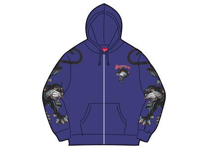 Supreme Panther Zip Up Hooded Sweatshirt Purple (SS21)の写真
