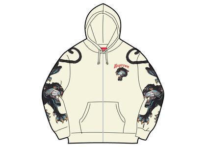 Supreme Panther Zip Up Hooded Sweatshirt White (SS21)の写真