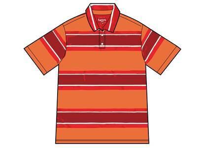 Supreme Stripe Velour Polo Orange (SS21)の写真