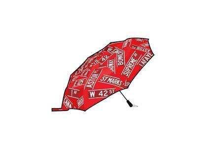 Supreme ShedRain Street Signs Umbrella Red (SS21)の写真