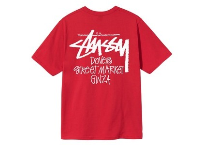 Dover Street Market Ginza × Stussy Stock Tee Red (SS21)の写真
