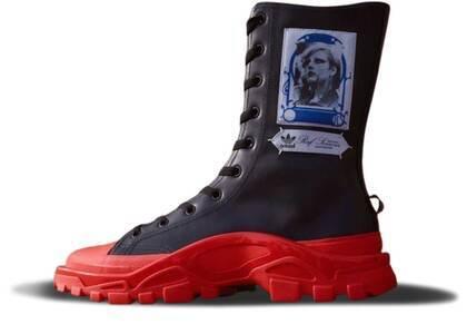 adidas Detroit High Raf Simons Black Redの写真