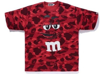 Bape × M&M's Color Camo Relaxed Tee Red (SS21)の写真
