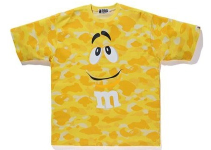 Bape × M&M's Color Camo Relaxed Tee Yellow (SS21)の写真
