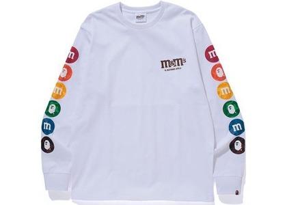 Bape × M&M's Mens Long Sleeve Tee White (SS21)の写真