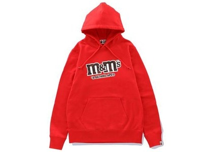 Bape × M&M's Womens College Pullover Hoodie Red (SS21)の写真