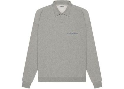 ESSENTIALS Long Sleeve French Terry Polo Dark Heather Oatmeal (SS21)の写真