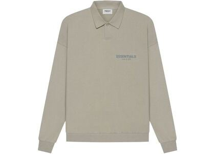 ESSENTIALS Long Sleeve French Terry Polo Moss (SS21)の写真