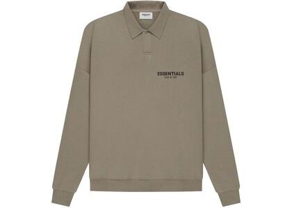 ESSENTIALS Long Sleeve French Terry Polo Taupe (SS21)の写真