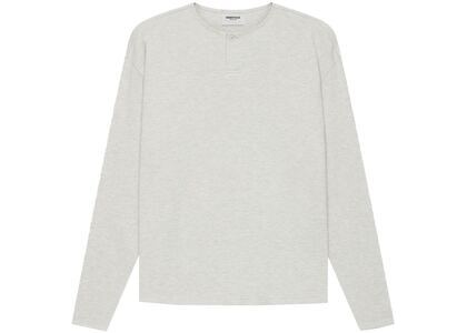 ESSENTIALS Long Sleeve Thermal Henley Light Heather Oatmeal (SS21)の写真