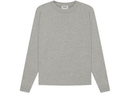 ESSENTIALS Long Sleeve T-Shirt Dark Heather Oatmeal (SS21)の写真