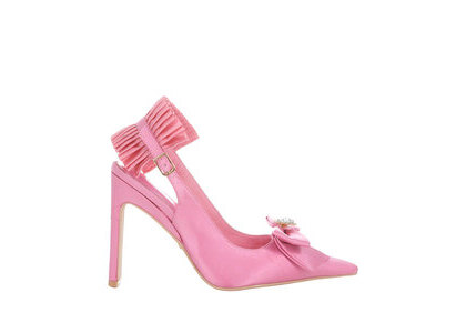 YELLO Monroe Pink Mules Blackの写真