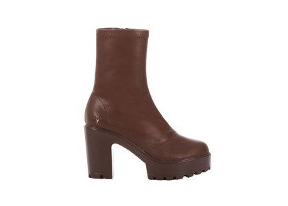 YELLO Fudge Platform Short Boots Brownの写真