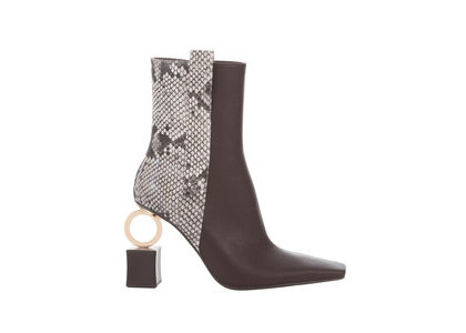 YELLO Zoey Short Boots Black/Grayの写真