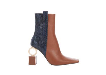 YELLO Brick Short Boots Brown/Blackの写真