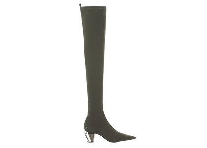 YELLO Moss Low Heel Long Boots Blackの写真