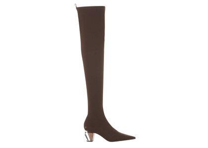 YELLO Espresso Low Heel Long Boots Brownの写真
