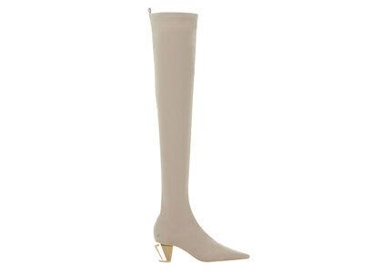 YELLO Vanilla Low Heel Long Boots Whiteの写真