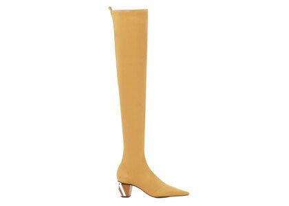 YELLO Marmalade Low Heel Long Boots Orangeの写真
