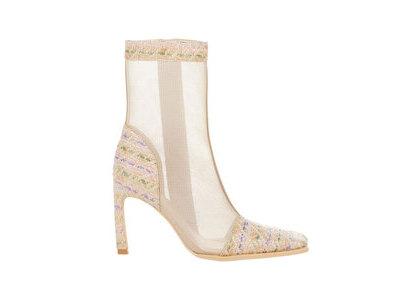 YELLO Printemps Mesh Short Boots Whiteの写真