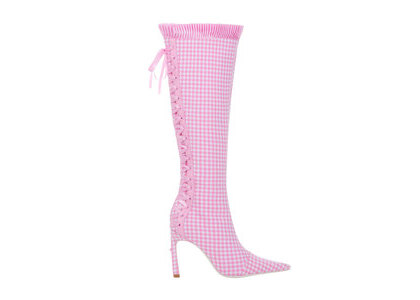 YELLO Bisou Long Boots Pinkの写真