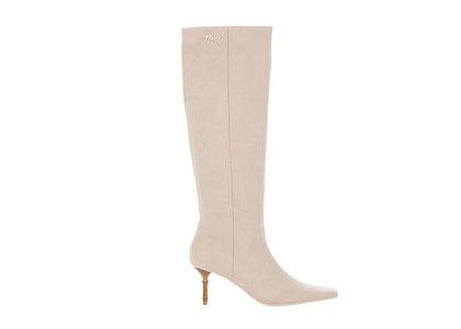 YELLO Mangnolia Mid Length Boots Whiteの写真