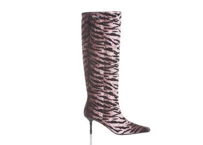 YELLO Valetta Mid Length Boots Black/Whiteの写真