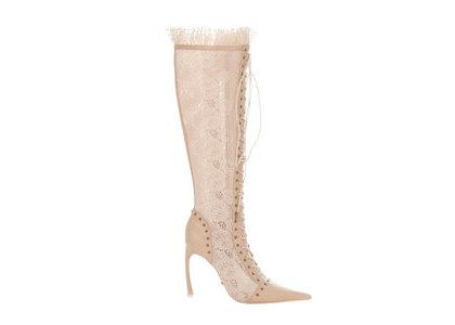 YELLO Bare Long Boots Whiteの写真
