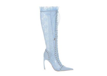YELLO Mon Bebe Long Boots Blueの写真
