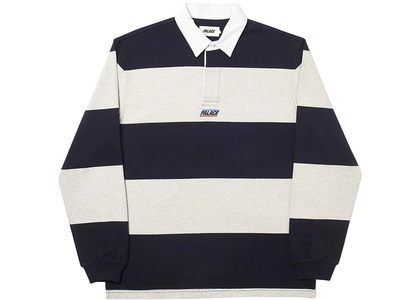 Palace Striped Rugby Black/Grey (SS20)の写真