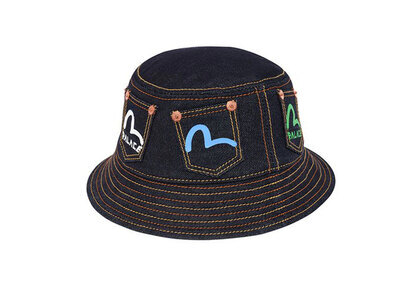 Palace Evisu Bucket Hat indigo (SS20)の写真
