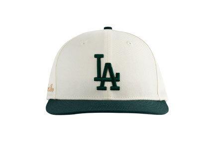 Aime Leon Dore x New Era Dodgers Hat Ivory/Dark Greenの写真