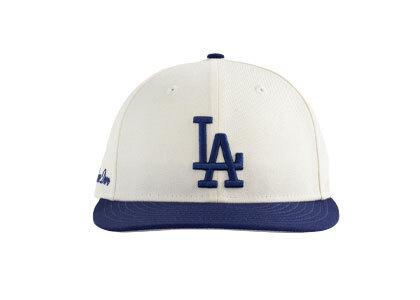 Aime Leon Dore x New Era Dodgers Hat Ivory/Blueの写真
