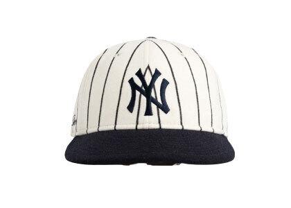 Aime Leon Dore New Era Wool Pinstripe Yankee Hat White/Navyの写真