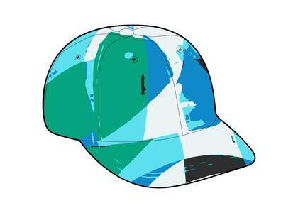 Supreme Emilio Pucci 6-Panel Blue (SS21)の写真