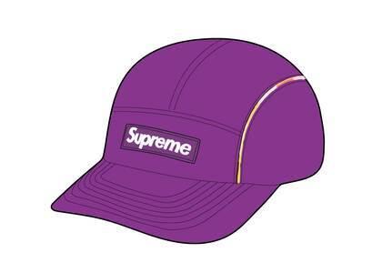 Supreme Gradient Piping Camp Cap Purple (SS21)の写真