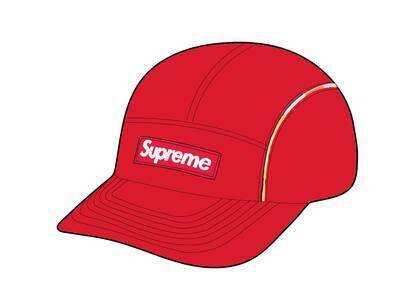 Supreme Gradient Piping Camp Cap Red (SS21)の写真