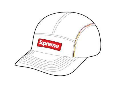 Supreme Gradient Piping Camp Cap White (SS21)の写真
