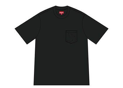 Supreme Laser Cut S Logo Pocket Tee Black (SS21)の写真