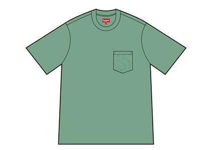 Supreme Laser Cut S Logo Pocket Tee Green (SS21)の写真