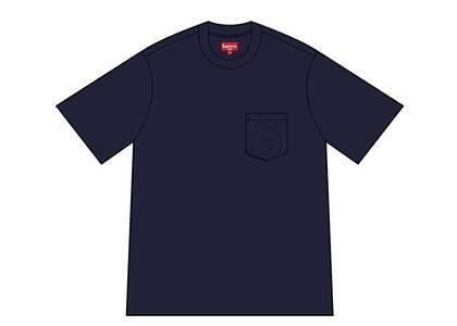Supreme Laser Cut S Logo Pocket Tee Navy (SS21)の写真