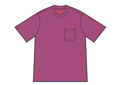 Supreme Laser Cut S Logo Pocket Tee Purple (SS21)の写真