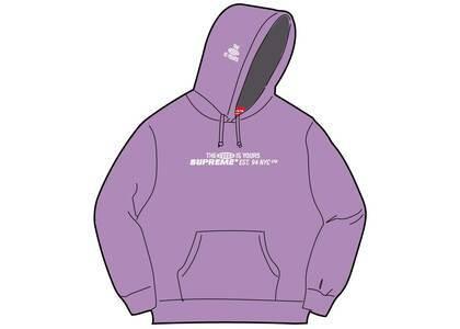 Supreme World Is Yours Hooded Sweatshirt Purple (SS21)の写真