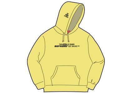 Supreme World Is Yours Hooded Sweatshirt Yellow (SS21)の写真