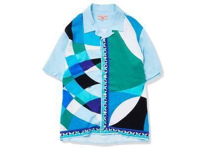 Supreme Emilio Pucci S/S Shirt Blue (SS21)の写真
