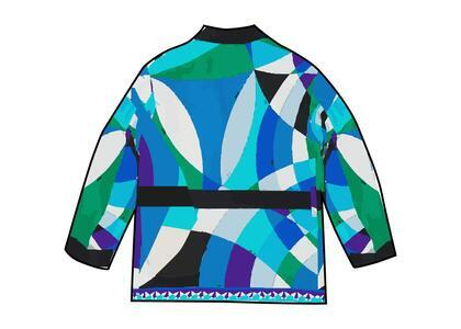 Supreme Emilio Pucci Silk Smoking Jacket Blue (SS21)の写真