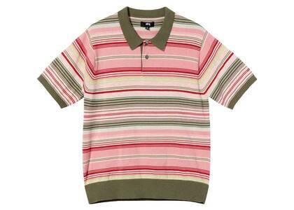 Stussy Knit Stripe Polo Olive (SS21)の写真