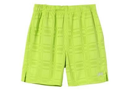 Stussy Plaid Soccer Short Lime (SS21)の写真